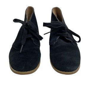 Janie and Jack Black Suede Boots size 12 Lace Up